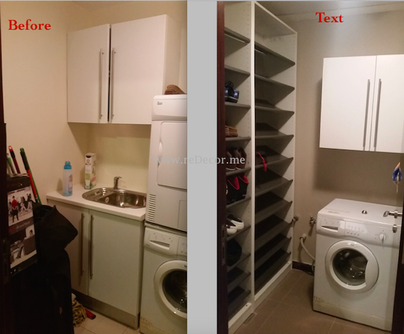 Kitchen make over Dubai, interior decor, laundry organising