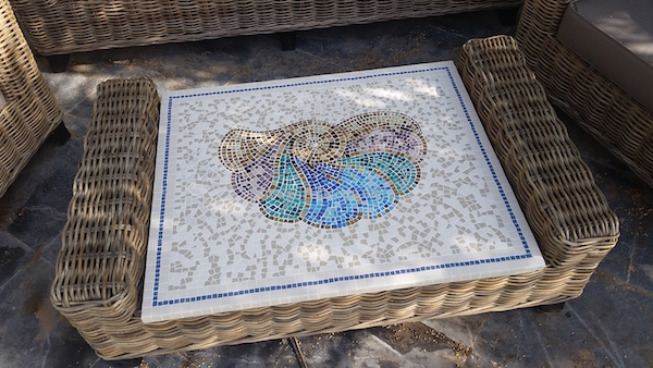 Handmade mosaic garden table Dubai interior design