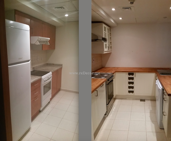 before and after kitchen, Kitchen renovation remodelling Dubai, Interior design, consultation