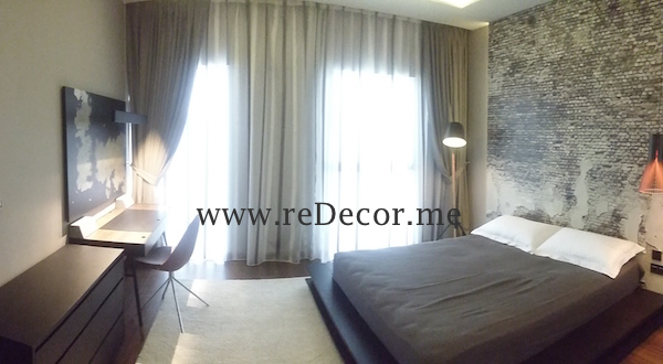 Interior decor and design, modern contemporary style, Dubai, DIFC, before and after Master bedroom, Master bedroom, LED lighting, wooden flooring, mirror wardrobes, gypsum ceiling, DIFC, Dubai, Interior decor and design consultancy, luxurious interiors