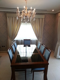 springs villa, dining , modern design and decor, Dubai interior decor, palm jumeirah consultation
