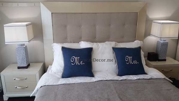 bedroom interiors, blue and beige, dubai consultation decor and design