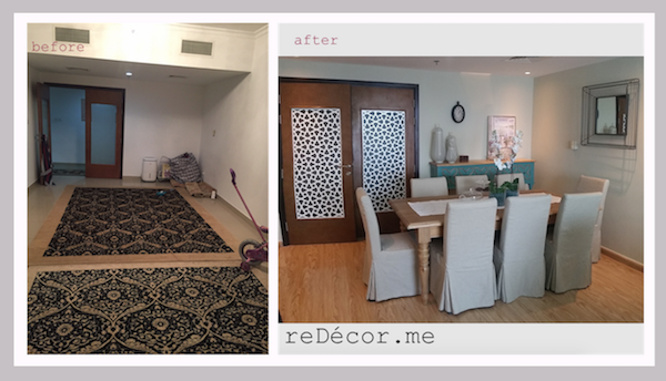 before and after shabby chic decor Dubai