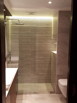 bathroom remodeling, modern, grey, Vitra, dubai design, walk in shower, executive towers, business bay, consultation by erika pace