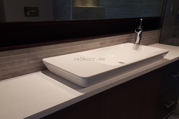 console wahbasin, bathroom remodelling, fit out works on Dubai, design, walk in shower, modern bathroom, renovations by erika pace