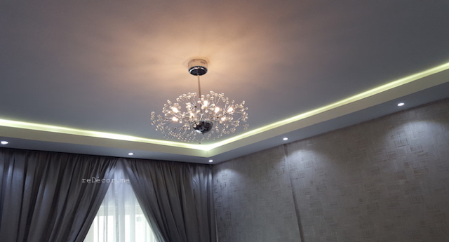 fit out dubai, renovation, remodelling, modern grey, gypsum ceiling, laminate flooring, custom made curtains, bathroom remodelling, kitchen design, hallway, entrance
