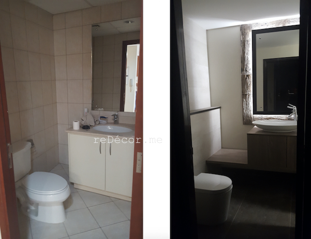 fit out bathrooms dubai, renovation, remodelling, design powder room motorcity, dubai