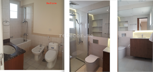 bathroom fit out dubai, remodelling, Master, 2nd bedroom and guest room bathroom remodelling, fitout dubai, bathroom fitout, design, consultation, practical, sliding shower doors, mirror cabinets