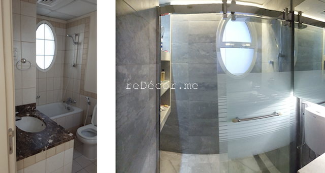 bathroom fit out dubai , before and after, Master bathroom remodelling. Complete change to modern looks: walk in shower, squad, organised lighting, design consultation, lay out, dubai , springs villas, squad, healthy living, consultation, shower sliding door