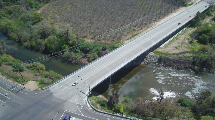 UAV Aerial Photo of the McHenrey Avenue Bridge Over The Stanislaus River