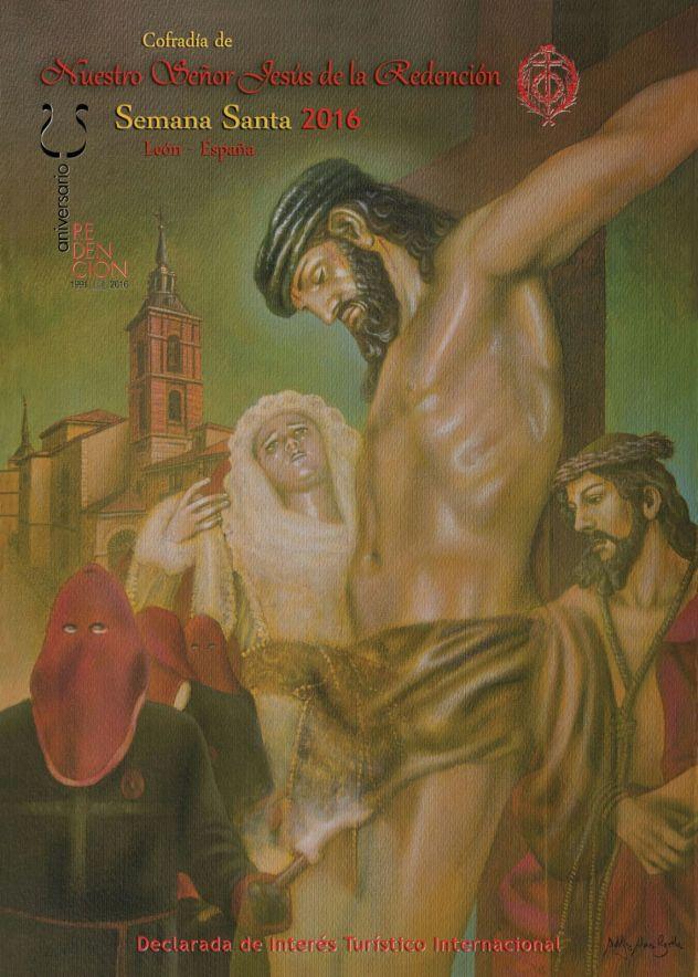 Cartel del XXV Aniversario de la Cofradía de la Redención