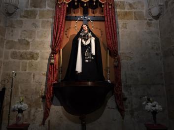 Ntra Madre de la Divina Gracia ataviada para la Cuaresma 2020