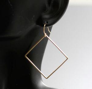 14k gold filled square earrings
