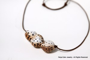 Animal Print Fair Trade Bead Necklace