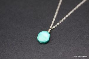 druze necklace, sterling silver