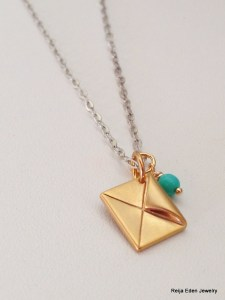 handmade gold charm necklace