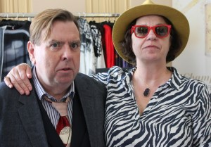 Timothy Spall and his wife Shane wearing Reija Eden Jewelry Necklace