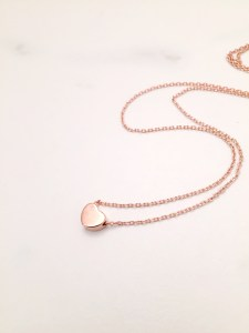 rose gold heart necklace