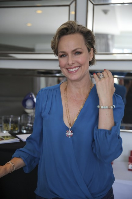 actress Melora Harding wearing reija eden jewelry amazonite bracelet