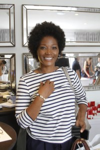 Yolanda Ross wearing Amazonite Bracelet by Reija Eden