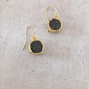 handmade small druzy earrings