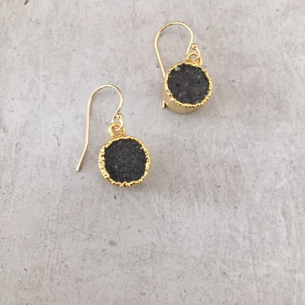 handmade small druzy earrings