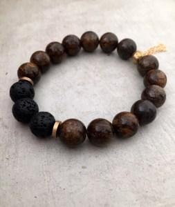 handmade bronzite bracelet