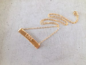 custom gold bar necklace