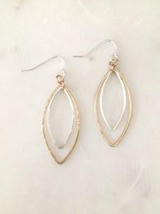 handmade mixed metal earrings
