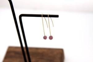modern gold wire earrings