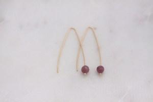 modern ruby earrings