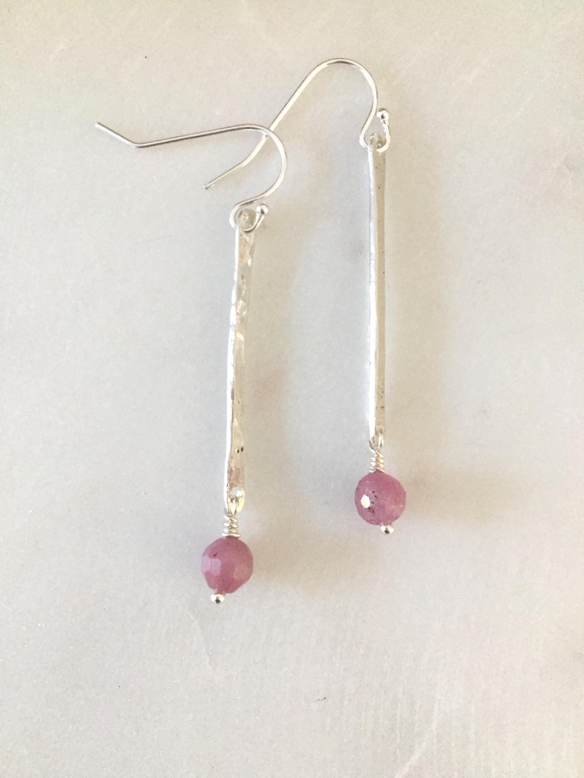 Handmade Silver Stick Earrings Reija Eden Jewelry