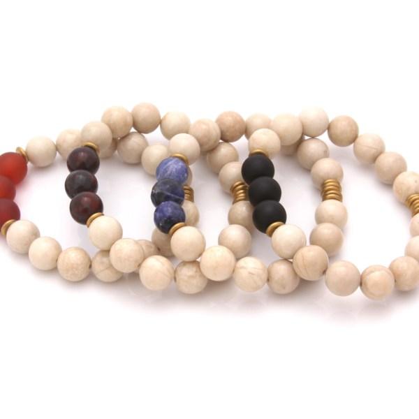 fossil jasper gemstone bracelets