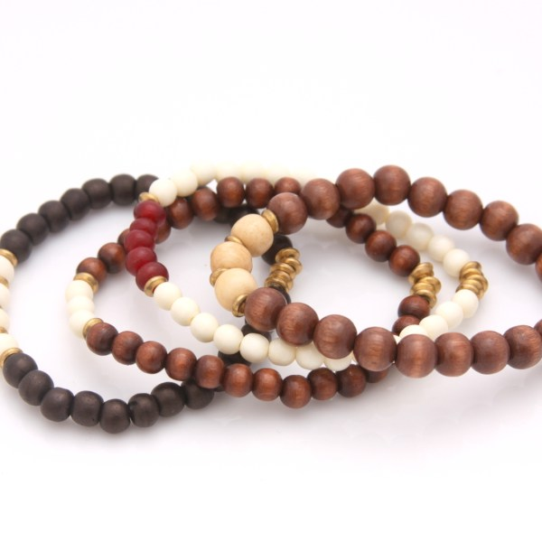 neutral mini bracelet set