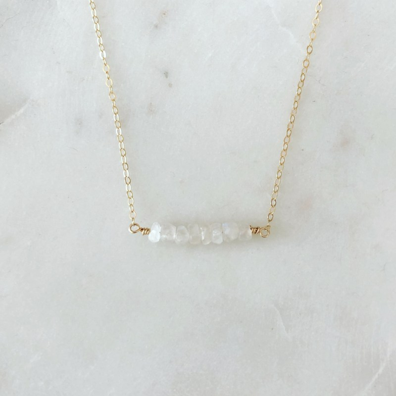 handmade moonstone necklace