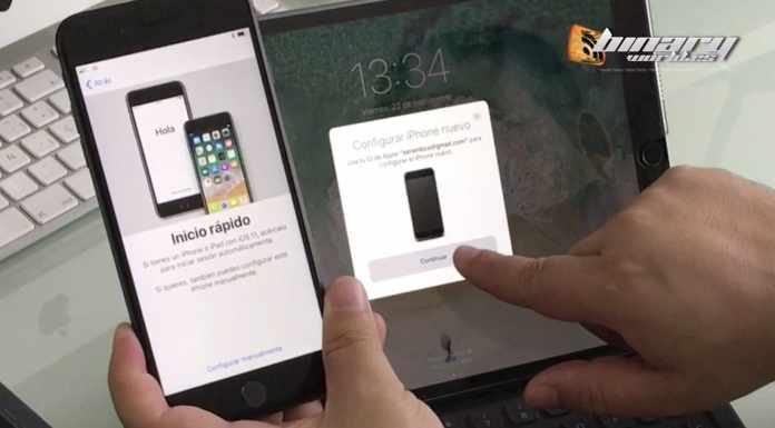 Configurar inicio rápido con iOS 11