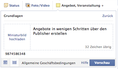 Facebook Angebote Erstellen