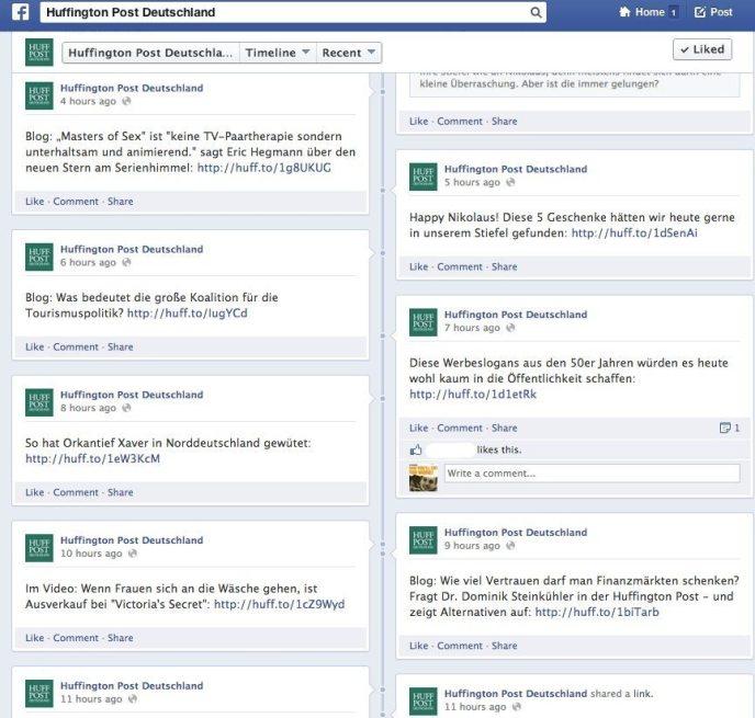 Anzahl Facebook Beiträge