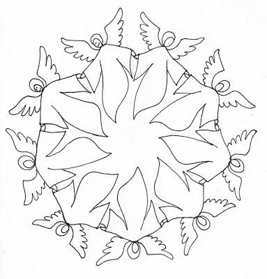 Mandala de arcángeles para colorear - Red Esotérica