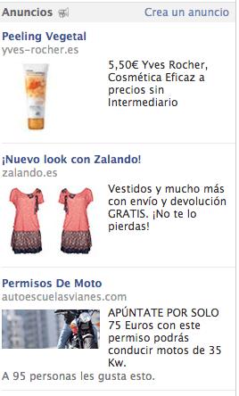 anuncios link Facebook
