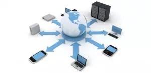 Logotipo de Redes y servidor