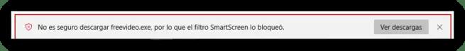 SmartScreen Bloquear descarga no autorizada