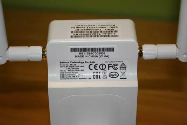 Conoce cómo es la pegatina del sistema Wi-Fi mesh Edimax Gemini RE11S