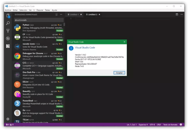 Visual Studio Code 1.16.2