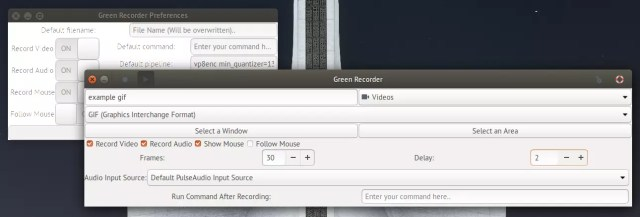 green recorder software grabacion Linux