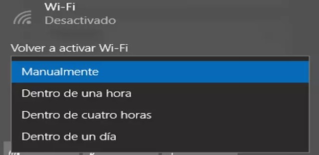 Opciones para conectar el WiFi de constituye automática