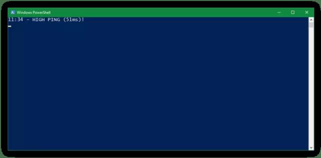 Script PowerShell Medir Ping