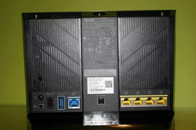 Descubre todas las conexiones y botones del enrutador gaming ASUS RT-AC86U