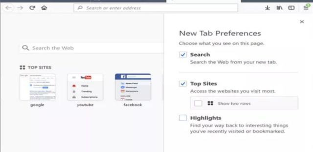 Eliminar los resaltados en Mozilla Firefox