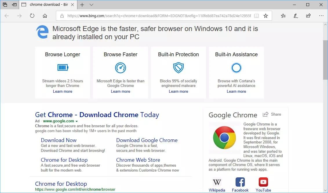 Cuidado con los anuncios para descargar Google Chrome, pueden poner